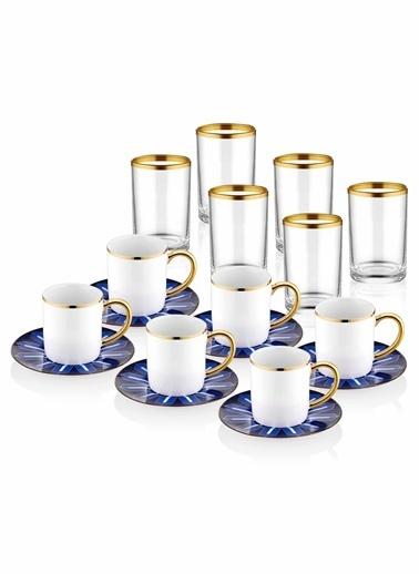 The Mia Diago Kahve & Kahve Yanısu Bardağı - 6 Kişilik Renkli